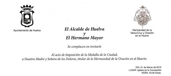 Imposición de la Medalla de la Ciudad