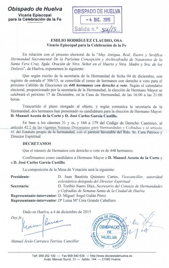 Decreto elecciones