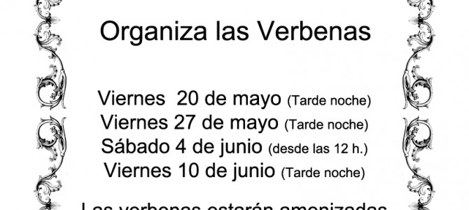 Modificación del calendario de verbenas